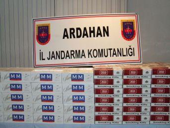 Ardahan'da 9 Bin kaçak Sigara ele geçirildi