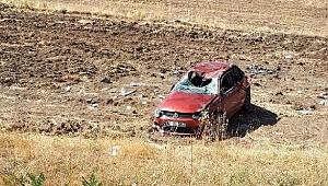 Yoldan çıkan otomobil takla attı: 6 yaralı