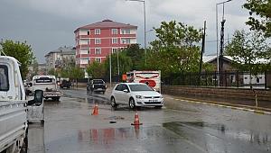 Ardahan'da şiddetli yağmur ve dolu