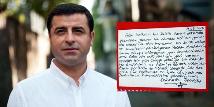 Demirtaş'tan Ardahan ve Gölelilere ıslak imzalı mektup