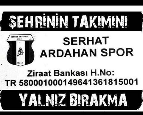 Serhat Ardahan Spor desteğinizi bekliyor