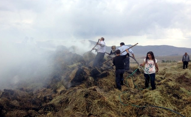 Yıldırım Çobana çarptı, Hoçvan'da yangın çıktı