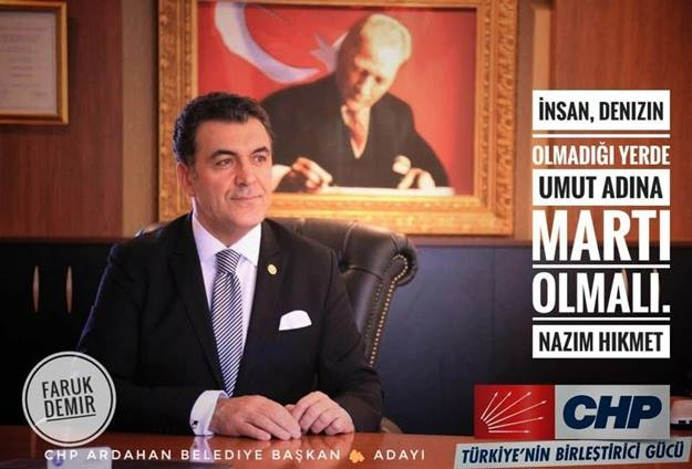 CHP Ardahan'da Faruk Demir'le seçime gidecek