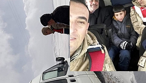 Yolcuların imdadına Jandarma yetişti