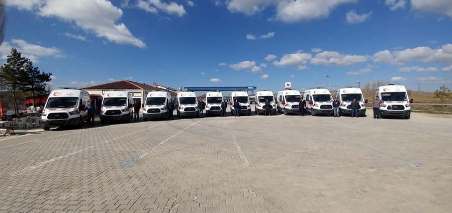 11 adet 4x4 ambulans sevk için mi?