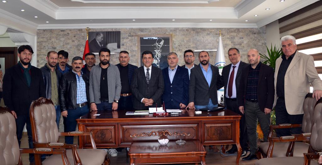 AGFC'DEN BAŞKAN DEMİR'E HAYIRLI OLSUN ZİYARETİ