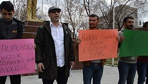 Sevdamız Ardahan, Rektör Biber'in istifasını istedi