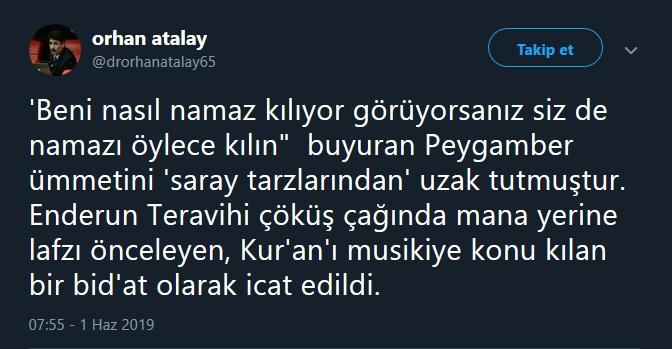 Orhan Atalay, o namazı eleştirdi