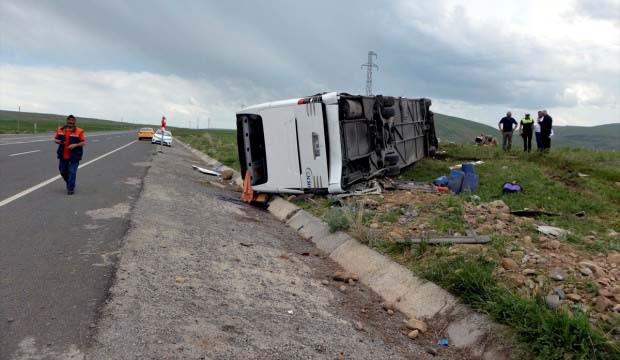 Trafik kazası:  1 ağır, 6 yaralı