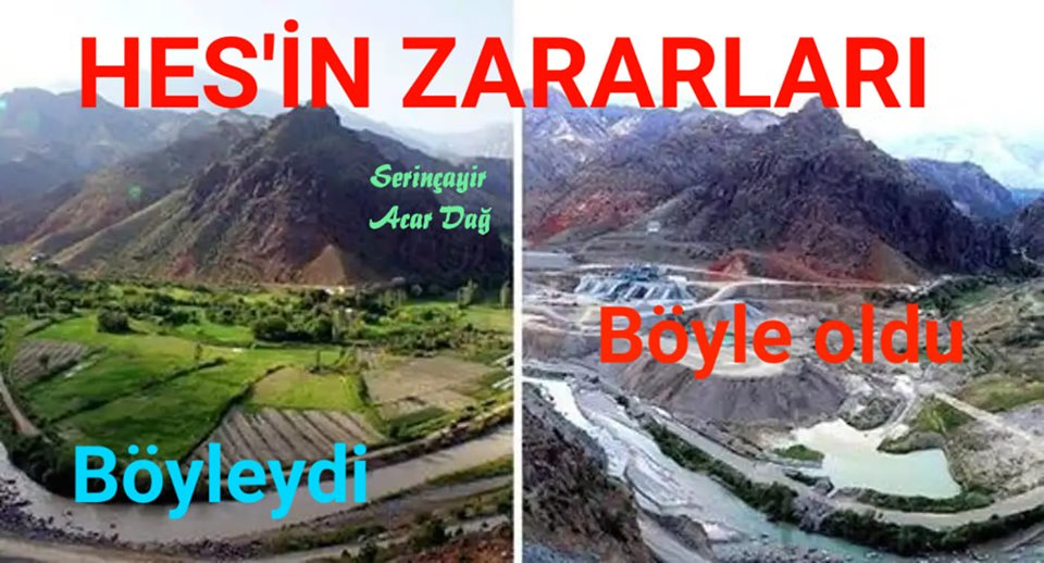 Büyük tehlike Durançam HES Barajıdır; Sorumlusu da Orhan Atalay'dır