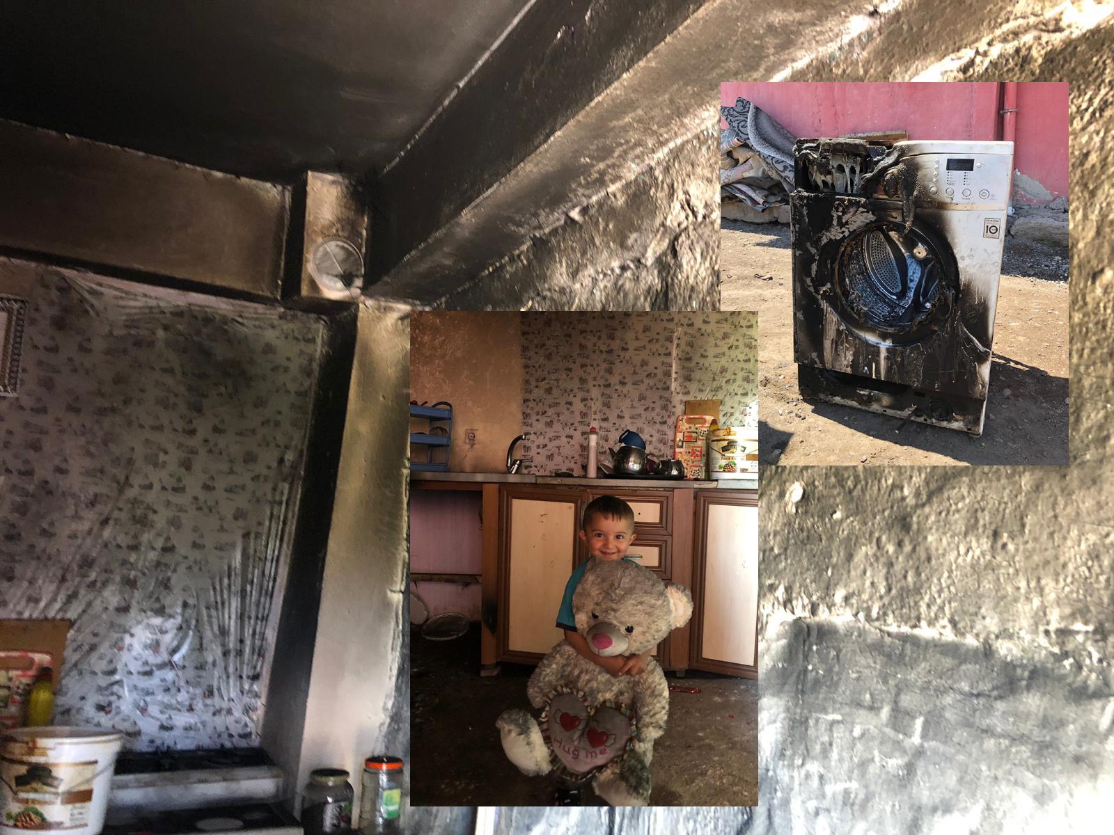 Taşlıdere köyünde yangın, ev kül oldu
