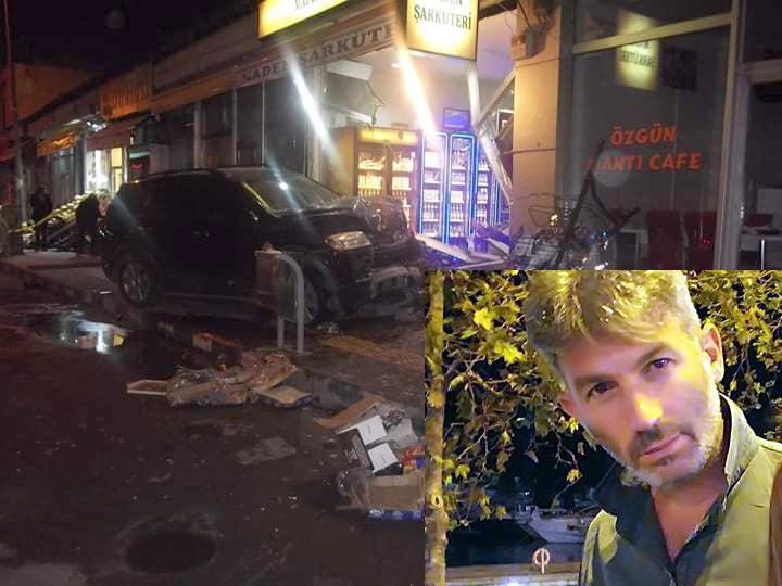 Otomobil işyerine girdi: 1 ölü, 1 yaralı