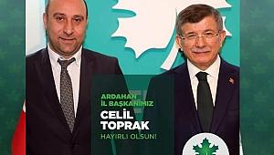 GELECEK PARTİSİ CELİL TOPRAK'A EMANET
