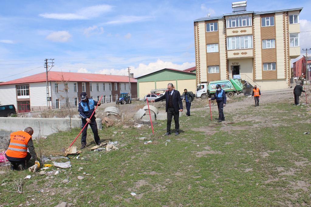Hanak Belediyesinden bahar temizliği