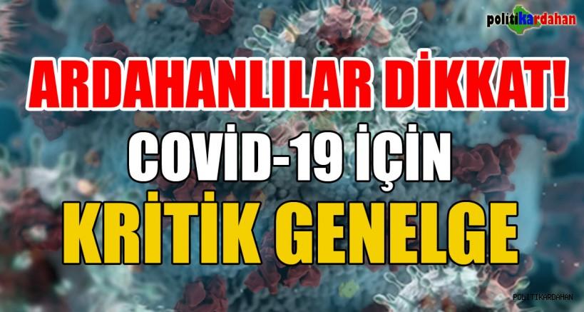 COVİD-19 İÇİN KRİTİK GENELGE