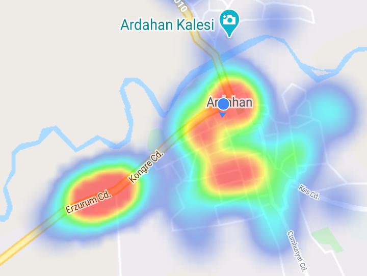 ARDAHAN'DA HARİTA NEFES ALDI