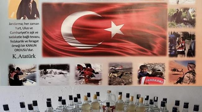Jandarma'dan kaçak alkol operasyonu